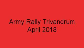 Army Rally Trivandrum application