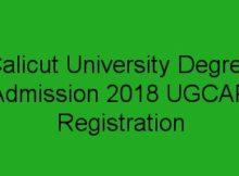 Calicut University degree admission 2018 registration