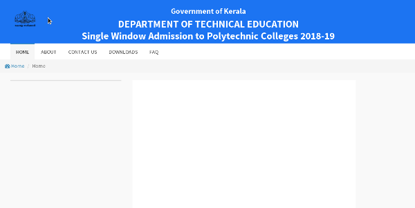 Polytechnic Admission 2018-19 Online Registration
