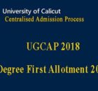 Calicut University Degree First allotment 2018