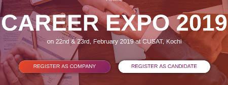 Career Expo Job Fair 2019 CUSAT Registration