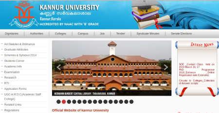Kannur University Allotment Result 2019