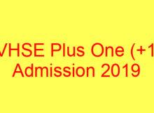 Kerala VHSE Admission 2019