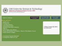 LBS BSc Nursing / Paramedical Second Allotment Result 2019
