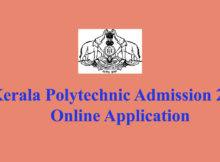 Kerala Polytechnic Admission Online Application 2020