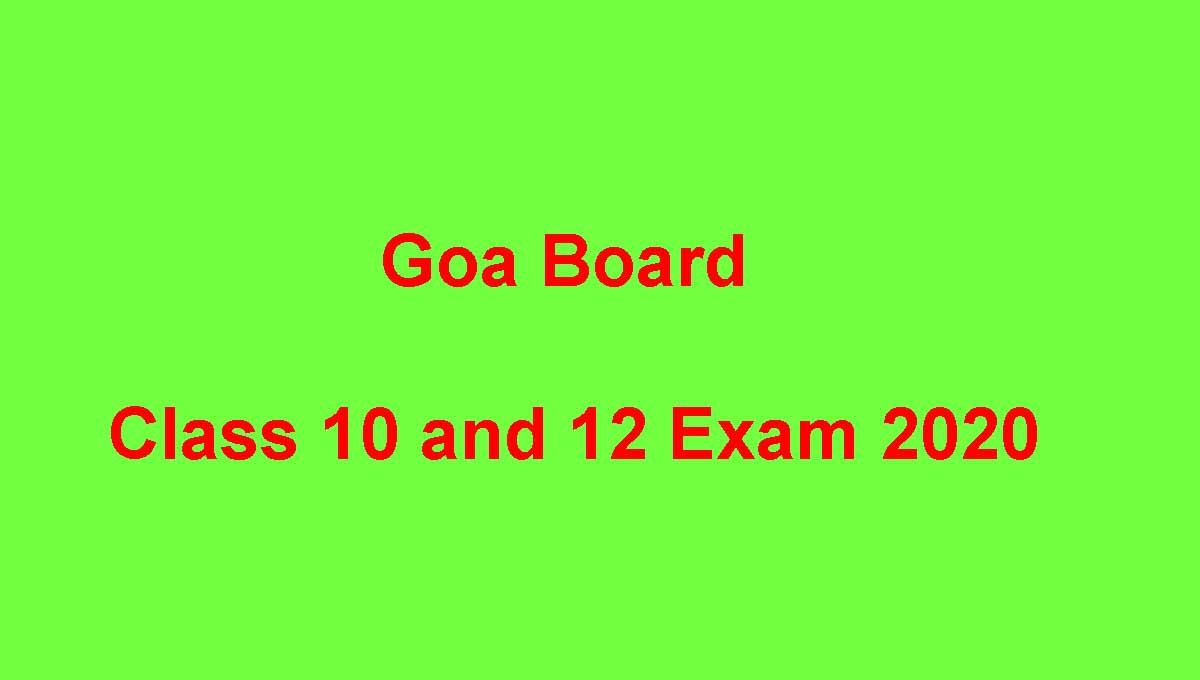 Goa Board Exam