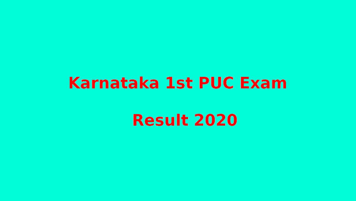 Karnataka 1st PUC Result 2020 Published
