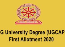 MG University Degree First Allotment 2020 - MGU UGCAP