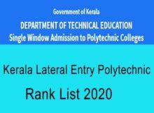 Kerala LET Polytechnic Ranklist 2020