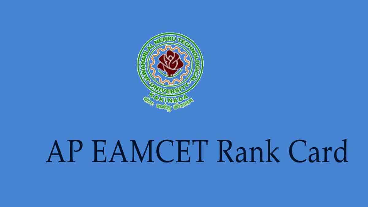 AP EAMCET Rank Card