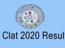 CLAT 2020 Result @ www.consortiumofnlus.ac.in