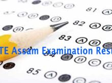 DTE Assam Examination Result