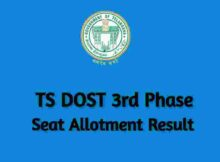TS DOST 3rd Phase Seat Allotment
